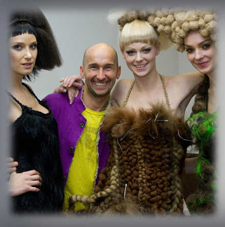avant garde hairstyles.  Seminar in the course of the Avantgarde Hairstyle Show in Berlin.